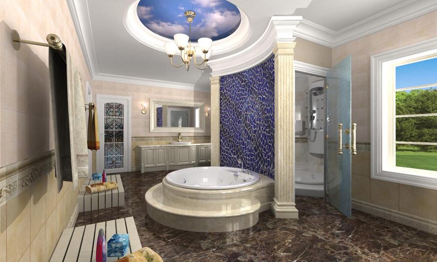 3d life realistic architectural visualization walk for Grand designs 3d bathroom kitchen