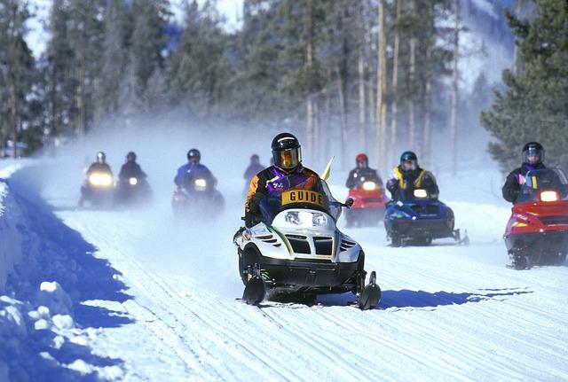 Riding a Snowmobile in Ontario