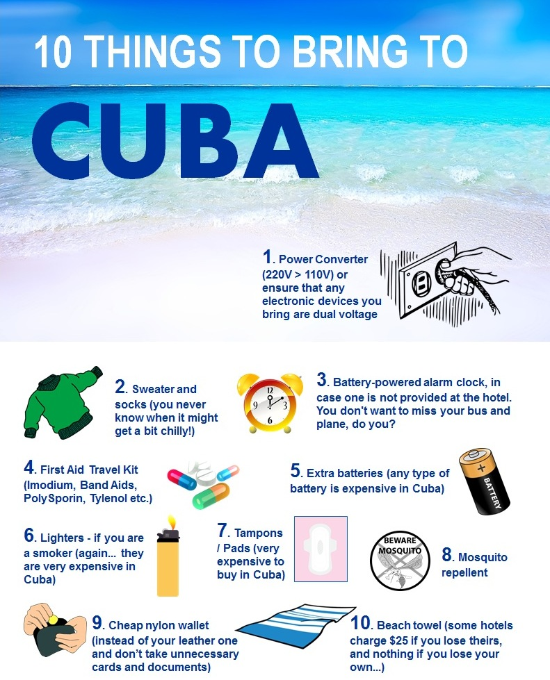 10 Things to Bring to Cuba