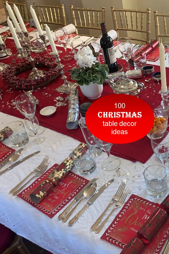 100 Christmas Table Decor Ideas