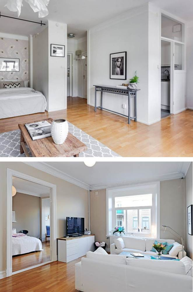 Adding a wall to open-concept layouts for privacy
