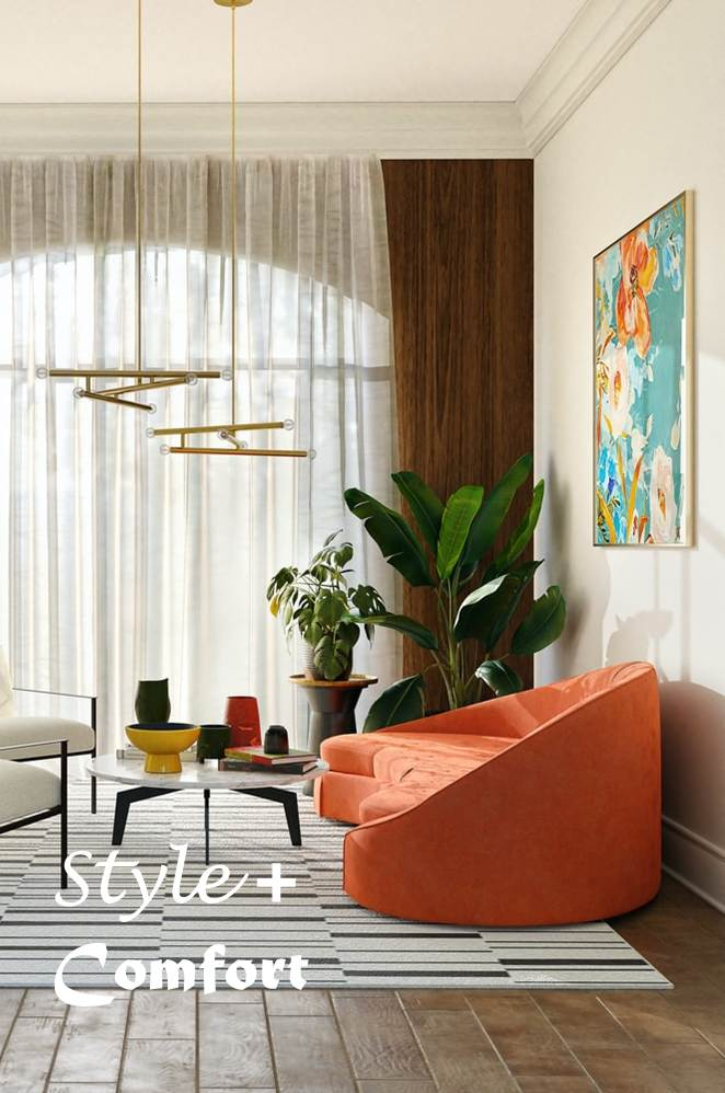Balancing style and comfort in your living room