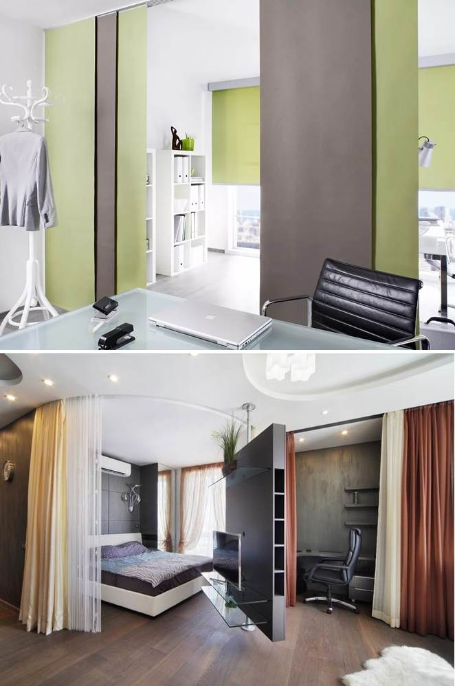 Curtains and blinds – the easiest way to divide your room