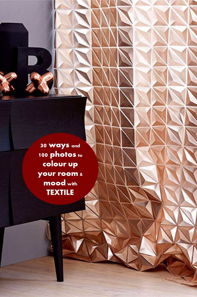 30 Ways and 100 photos to colour up your room and mood with textile